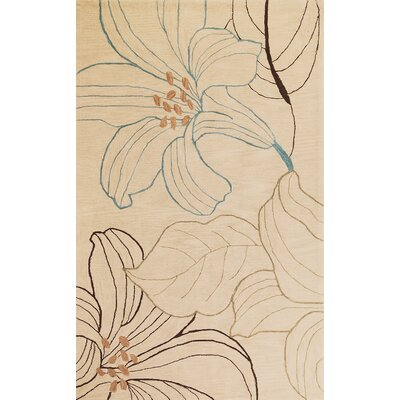 Bradshaw Beige Lily Area Rug Rug Size: Rectangle 8' x 10'