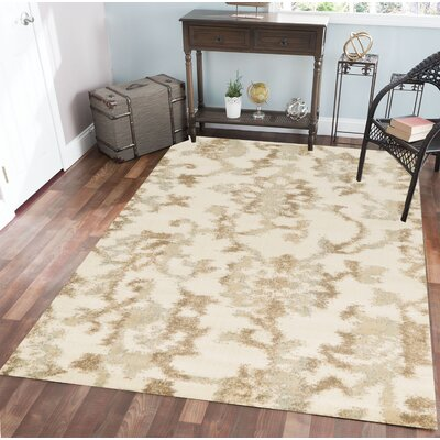Delshire Bone Area Rug Rug Size: 33 x 411