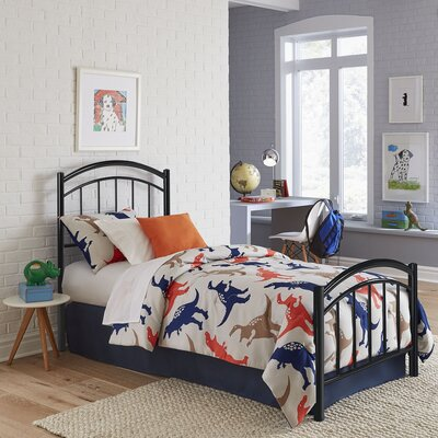 Kristy Complete Kids Panel Bed Finish: Black Ink, Size: Full