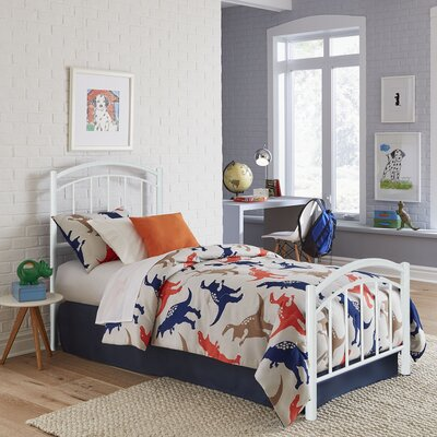 Kristy Complete Kids Panel Bed Finish: Cotton White, Size: Full