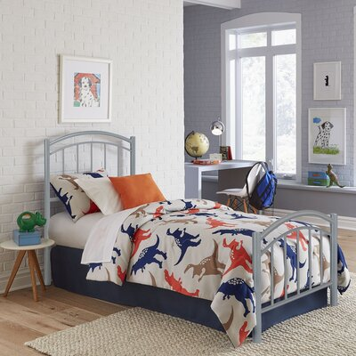 Kristy Complete Kids Panel Bed Finish: Shadow Grey, Size: Twin