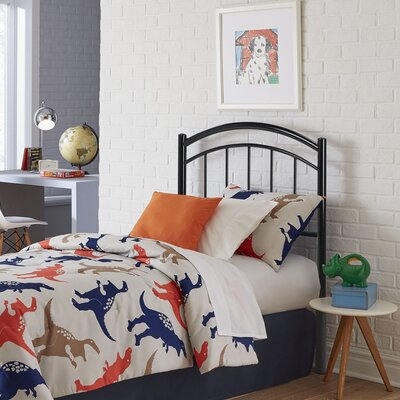Kristy Metal Kids Open-Frame Headboard Size: Full, Color: Black Ink