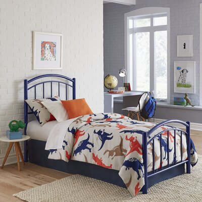 Kristy Kids Headboard/Footboard Panel Finish: Cadet Blue, Size: Twin