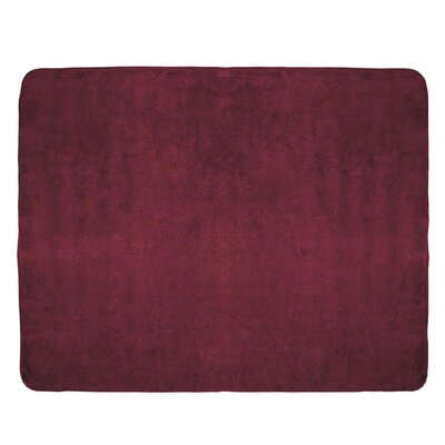 Campton Microfleece Throw Color: Burgundy