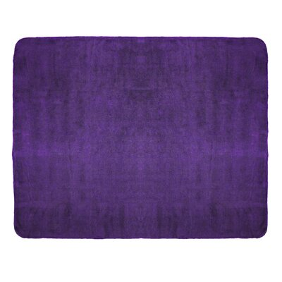 Campton Microfleece Throw Color: Purple