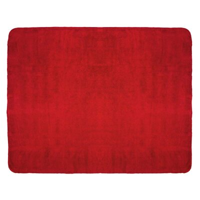 Campton Microfleece Throw Color: Red