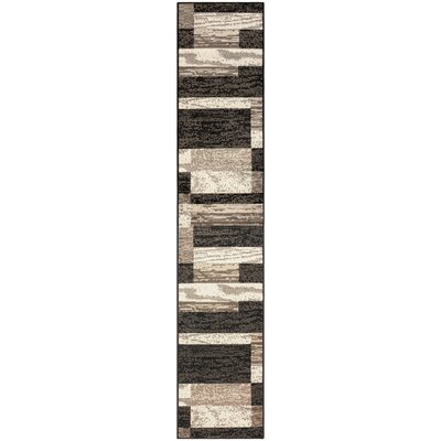 Audrey Chocolate Area Rug Rug Size: Runner 2 x 11