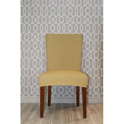 Stretch Polyester Dining Chair Slipcover Upholstery: Beige