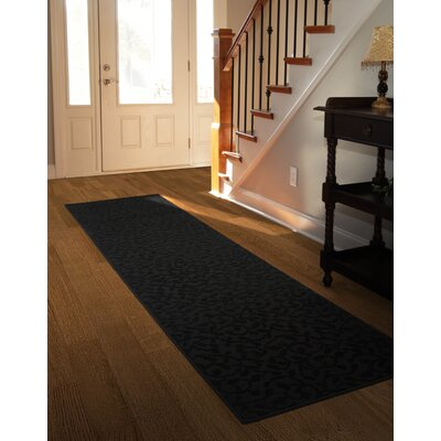 Edith Black Area Rug Rug Size: 2 x 8