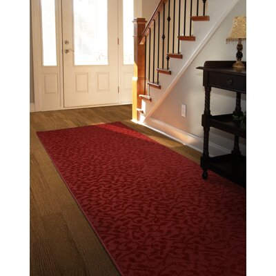 Edith Red Area Rug Rug Size: 2 x 8