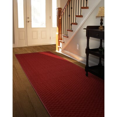 Esther Red Area Rug Rug Size: 2 x 8