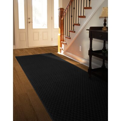 Esther Black Area Rug Rug Size: 2 x 8