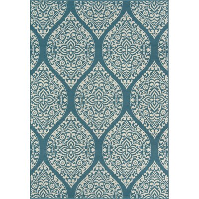 Ashleigh Baja Blue Indoor/Outdoor Area Rug Rug Size: Rectangle 53 x 76