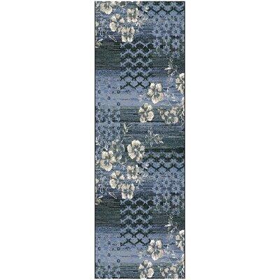 Reina Blue/Beige Area Rug Rug Size: Runner 27 x 8