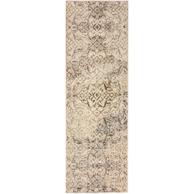 Francesca Beige Area Rug Rug Size: Rectangle 27 x 8
