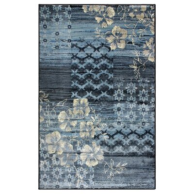Reina Blue/Beige Area Rug Rug Size: Rectangle 8 x 10