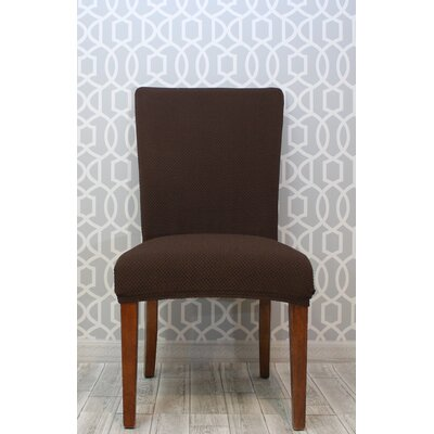 Stretch Polyester Dining Chair Slipcover Upholstery: Brown