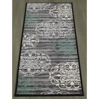 Tailynn Modern Gray/Black Area Rug Rug Size: 33 x 5