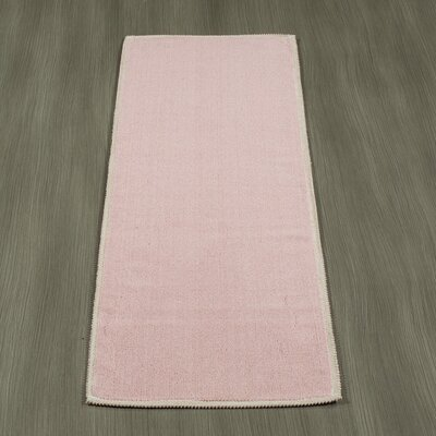 Taelyn Nature Cotton Solid Pink Area Rug Rug Size: Runner 18 x 411