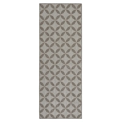 Emma Contemporary Star Design Gray Outdoor/Indoor Area Rug Rug Size: Runner 27 x 7