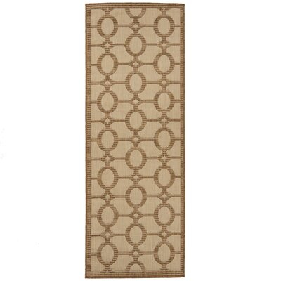 Emma Beige Indoor/Outdoor Area Rug Rug Size: Runner 27 x 7