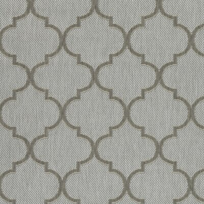 Emma Trellis Power Loom Light Gray Indoor/Outdoor Area Rug Rug Size: 53 X 73