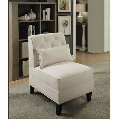 Carrie Slipper Chair Upholstery: Cream
