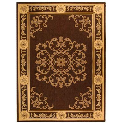 Short Chocolate / Natural Outdoor Area Rug Rug Size: Rectangle 710 x 11