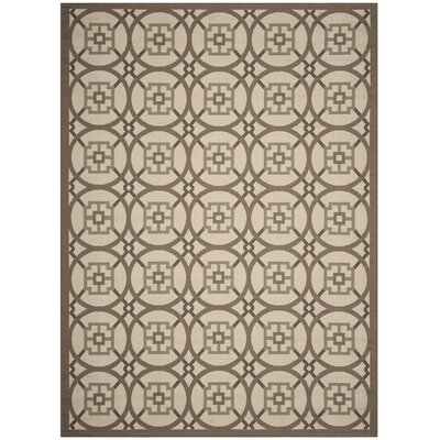 Short Beige Indoor/Outdoor Area Rug Rug Size: Rectangle 8 x 11