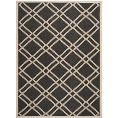 Short Black/Beige Indoor/Outdoor Rug Rug Size: Rectangle 8 x 11