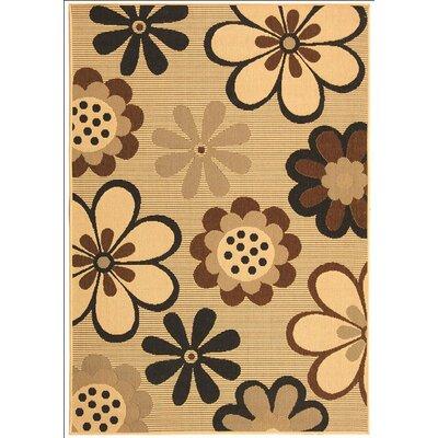 Short Natural Brown/Black Rug Rug Size: Rectangle 53 x 77