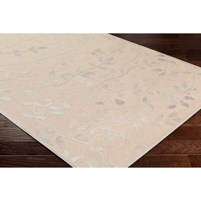 Holoman Transitional Floral Beige Area Rug Rug Size: Rectangle 76 x 106