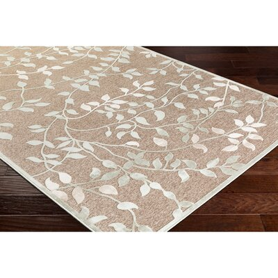 Ove Floral Sea Foam/Beige Area Rug Rug Size: Rectangle 88 x 12