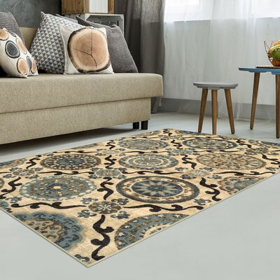 Benton Cream Area Rug Rug Size: Rectangle 5 x 8
