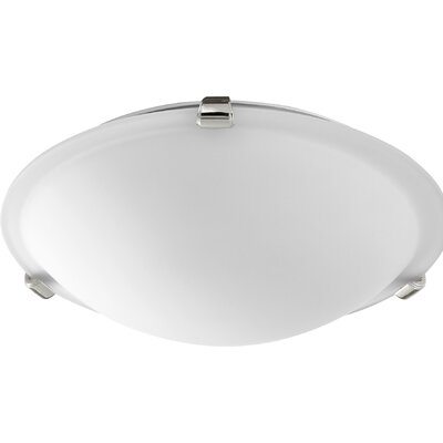 Hilbert 2-Light Flush Mount Fixture Finish: Polished Nickel