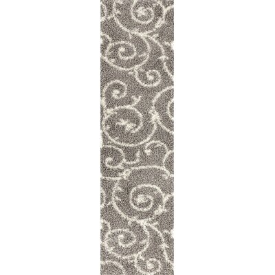 Birdsall Light Gray/White Area Rug Rug Size: Runner 2 x 72