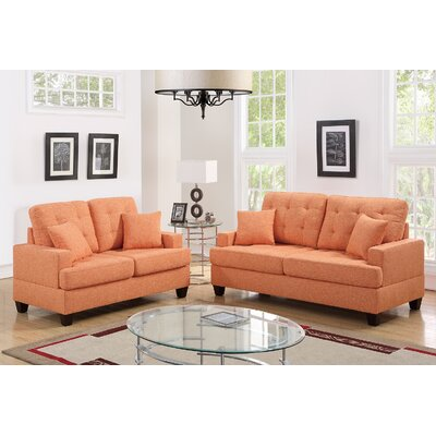 Saphira 2 Piece Living Room Set Upholstery: Citrus