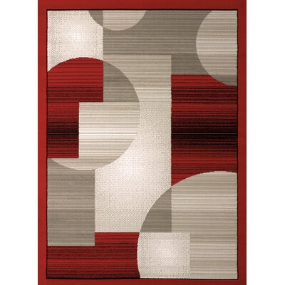 Jerome Red/Gray Area Rug Rug Size: 710 x 106