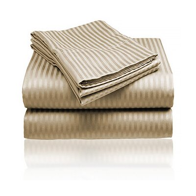Keeling Burgundy Fitted Sheet Size: Double, Color: Mocha