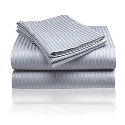 Keeling Burgundy Fitted Sheet Size: Double, Color: Gray