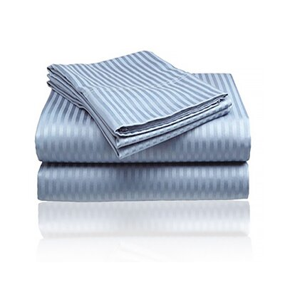 Keeling Burgundy Fitted Sheet Size: Double, Color: Light Blue