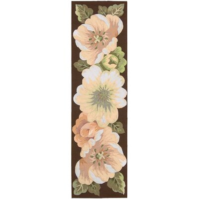 Haleigh Flower Hand-Hooked Area Rug Rug Size: Runner 23 x 8