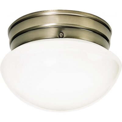Janice 1-Light Flush Mount Finish: Antique Brass