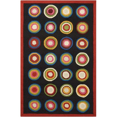 Frieda Black Rug Rug Size: Rectangle 36 x 56