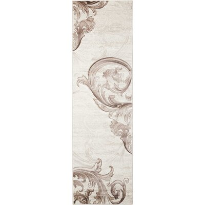 Shelley Beige Area Rug Rug Size: Runner 22 x 76