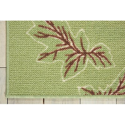 Sharan Green/Red Area Rug