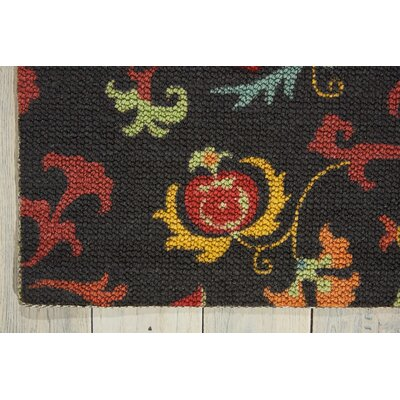 Sharan Black/Red Area Rug