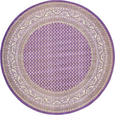 Toni Violet Area Rug Rug Size: Round 8