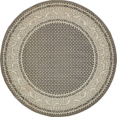 Gillam Gray Area Rug Rug Size: Round 8