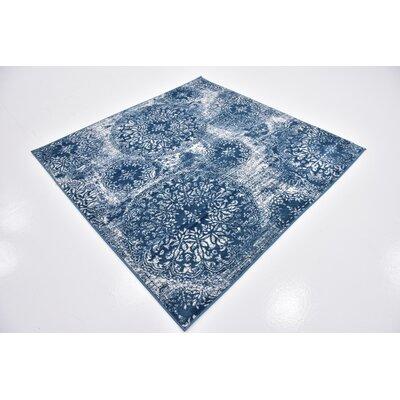 Brandt Blue Area Rug Rug Size: Square 6'